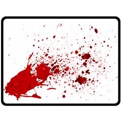 Blood Splatter 1 Double Sided Fleece Blanket (large)