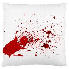 Blood Splatter 1 Large Flano Cushion Cases (Two Sides)