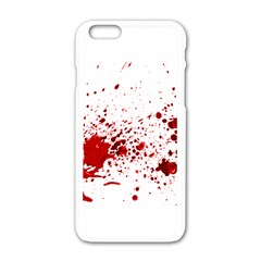 Blood Splatter 1 Apple iPhone 6 White Enamel Case