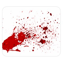 Blood Splatter 1 Double Sided Flano Blanket (small)