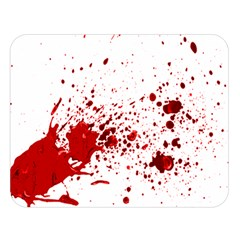 Blood Splatter 1 Double Sided Flano Blanket (Large)