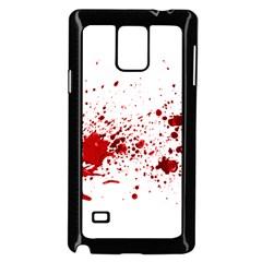 Blood Splatter 1 Samsung Galaxy Note 4 Case (Black)