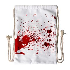 Blood Splatter 1 Drawstring Bag (Large)