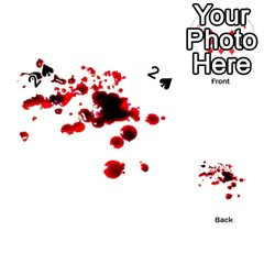 Blood Splatter 2 Playing Cards 54 (Heart)