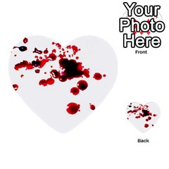 Blood Splatter 2 Multi-purpose Cards (Heart)
