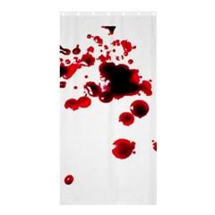 Blood Splatter 2 Shower Curtain 36  X 72  (stall)