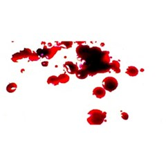 Blood Splatter 2 YOU ARE INVITED 3D Greeting Card (8x4)