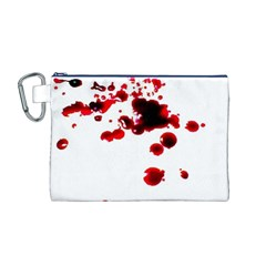 Blood Splatter 2 Canvas Cosmetic Bag (M)