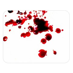 Blood Splatter 2 Double Sided Flano Blanket (Large)