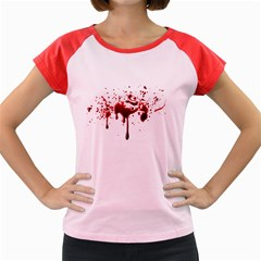 Blood Splatter 3 Women s Cap Sleeve T-Shirt