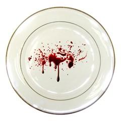 Blood Splatter 3 Porcelain Plates
