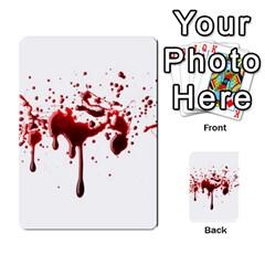 Blood Splatter 3 Multi-purpose Cards (Rectangle)