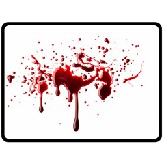 Blood Splatter 3 Fleece Blanket (Large)