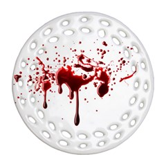 Blood Splatter 3 Round Filigree Ornament (2Side)