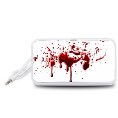Blood Splatter 3 Portable Speaker (White)