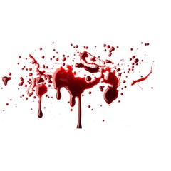 Blood Splatter 3 YOU ARE INVITED 3D Greeting Card (8x4)