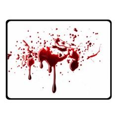 Blood Splatter 3 Double Sided Fleece Blanket (Small)