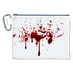 Blood Splatter 3 Canvas Cosmetic Bag (XXL)