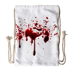 Blood Splatter 3 Drawstring Bag (large)