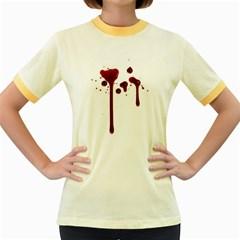 Blood Splatter 4 Women s Fitted Ringer T-Shirts