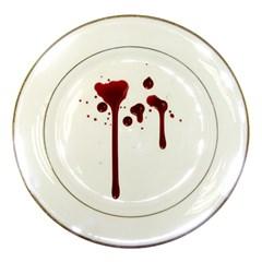 Blood Splatter 4 Porcelain Plates
