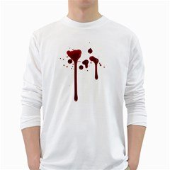 Blood Splatter 4 White Long Sleeve T-Shirts
