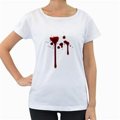 Blood Splatter 4 Women s Loose-Fit T-Shirt (White)