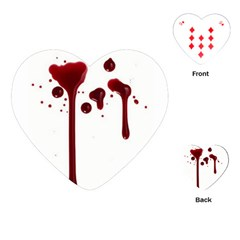 Blood Splatter 4 Playing Cards (Heart)