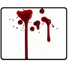 Blood Splatter 4 Fleece Blanket (Medium)