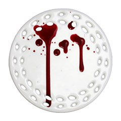 Blood Splatter 4 Ornament (Round Filigree)