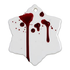 Blood Splatter 4 Snowflake Ornament (2-Side)