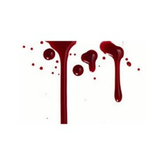 Blood Splatter 4 YOU ARE INVITED 3D Greeting Card (8x4)