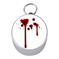 Blood Splatter 4 Mini Silver Compasses
