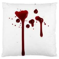 Blood Splatter 4 Large Flano Cushion Cases (two Sides)