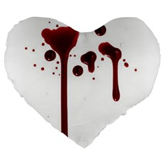 Blood Splatter 4 Large 19  Premium Flano Heart Shape Cushions