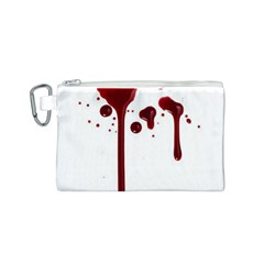 Blood Splatter 4 Canvas Cosmetic Bag (S)