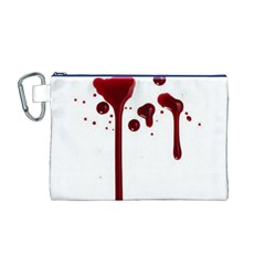 Blood Splatter 4 Canvas Cosmetic Bag (M)