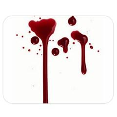 Blood Splatter 4 Double Sided Flano Blanket (Medium)