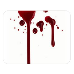 Blood Splatter 4 Double Sided Flano Blanket (Large)