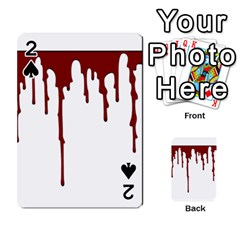 Blood Splatter 5 Playing Cards 54 Designs