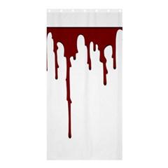 Blood Splatter 5 Shower Curtain 36  X 72  (stall)