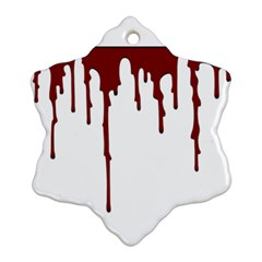 Blood Splatter 5 Ornament (Snowflake)