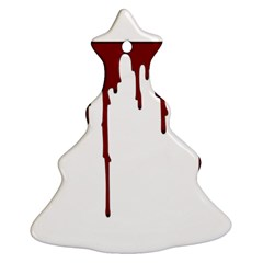 Blood Splatter 5 Ornament (Christmas Tree)