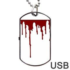 Blood Splatter 5 Dog Tag USB Flash (One Side)
