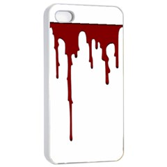 Blood Splatter 5 Apple iPhone 4/4s Seamless Case (White)