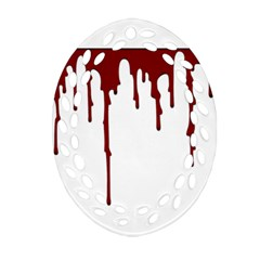 Blood Splatter 5 Oval Filigree Ornament (2-Side)