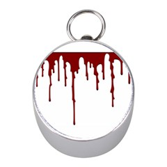 Blood Splatter 5 Mini Silver Compasses