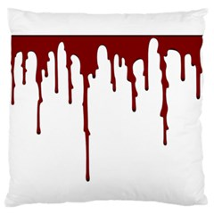 Blood Splatter 5 Standard Flano Cushion Cases (One Side)