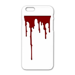 Blood Splatter 5 Apple iPhone 6 White Enamel Case