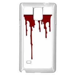 Blood Splatter 5 Samsung Galaxy Note 4 Case (White)